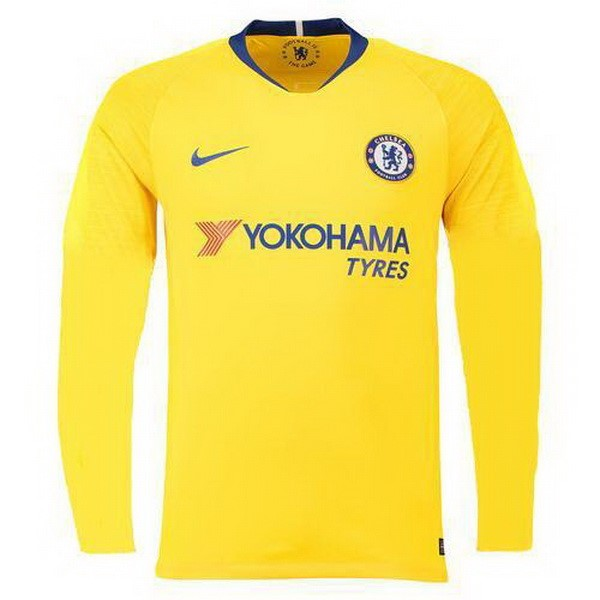 Camiseta Chelsea Replica Segunda ML 2018-19 Amarillo